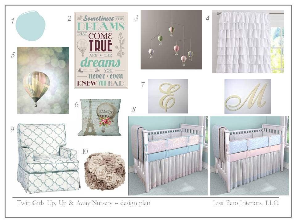 Twin Nursery Design Plan Lisa